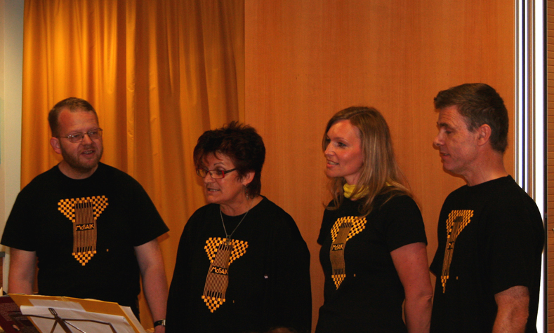 MOSAIK-Quartett: Andrea Engelberger, Michaela Grubmüller, Bodo Heise, Wolfgang Filzmoser
